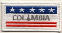 NASA Space Shuttle Columbia (OV-102) Embroidered Flag Patch